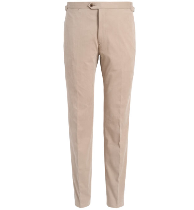 Allen Beige Shaved Cotton Trouser