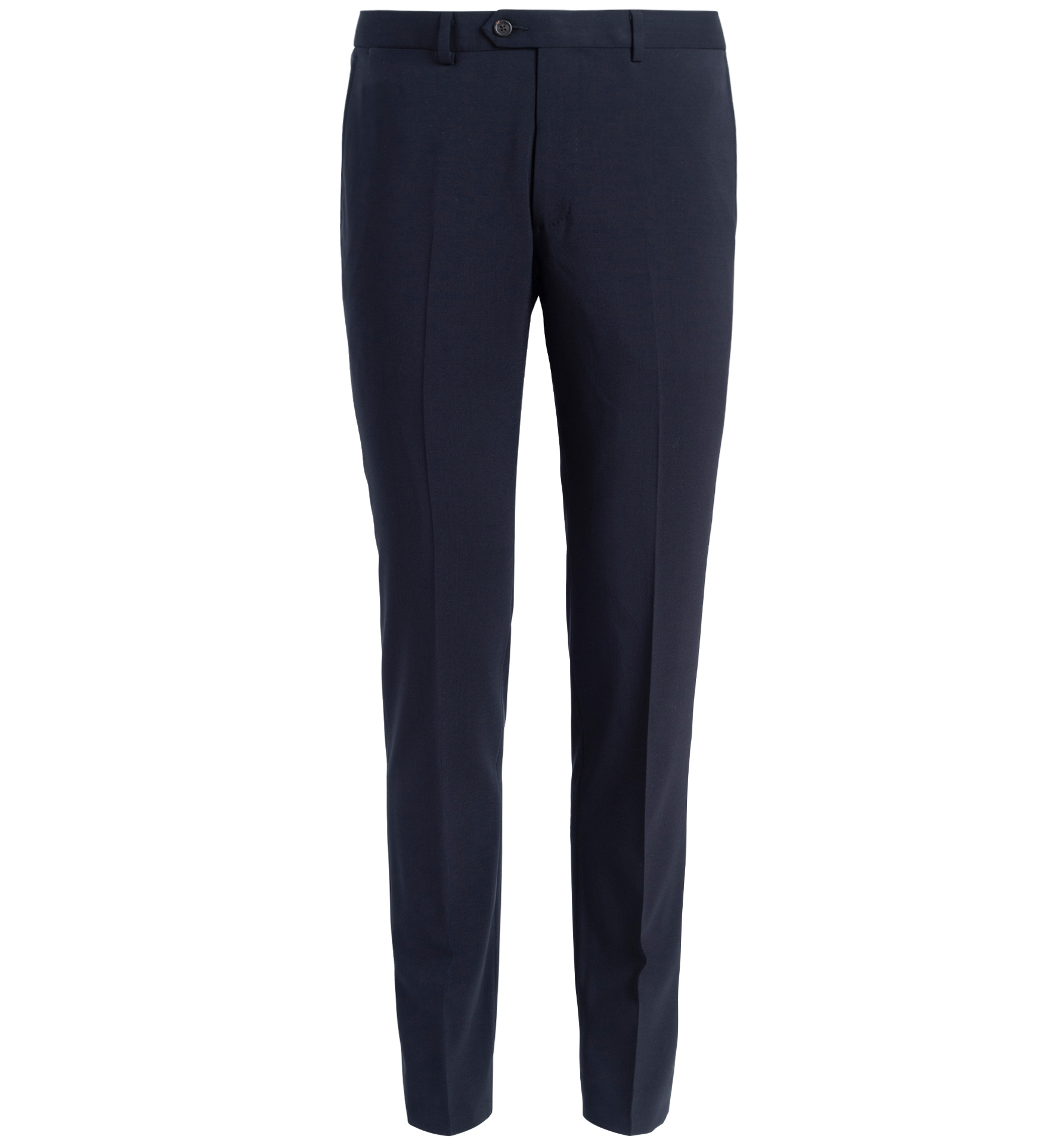 Zoom Image of Allen Navy Stretch Tropical Wool Trouser