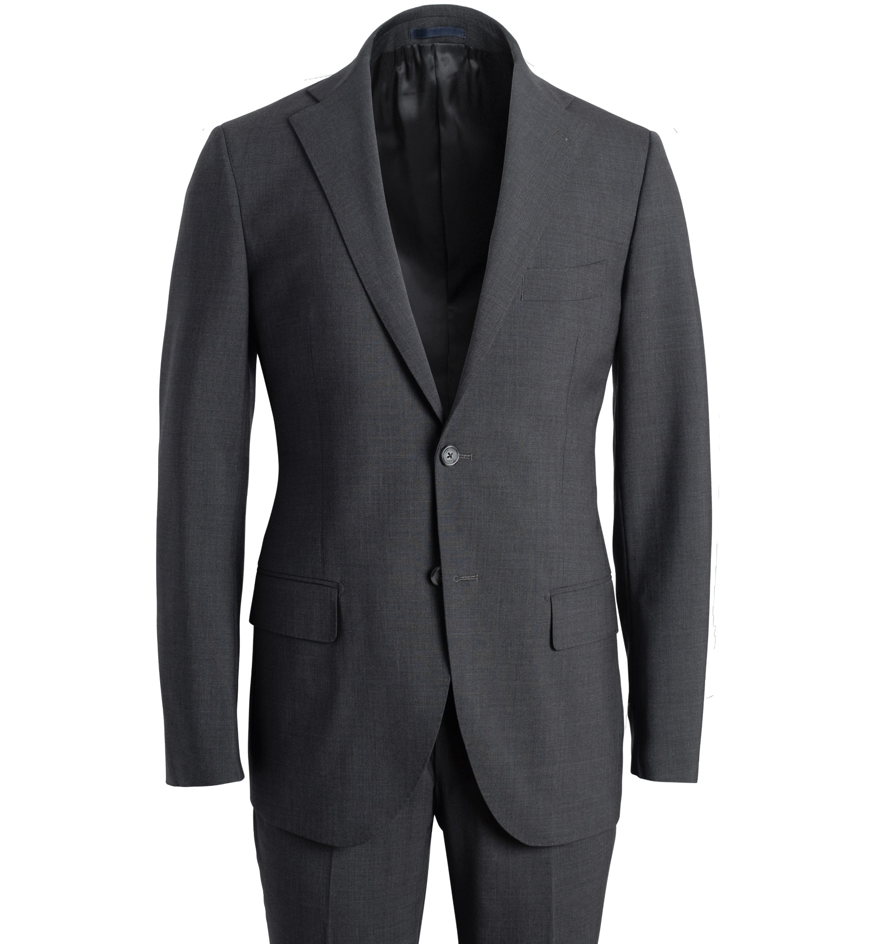 Zoom Image of Allen Charcoal Stretch Wool Suit