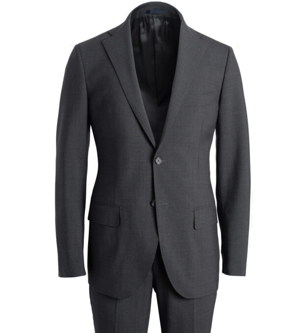 Allen Charcoal Stretch Tropical Wool Suit