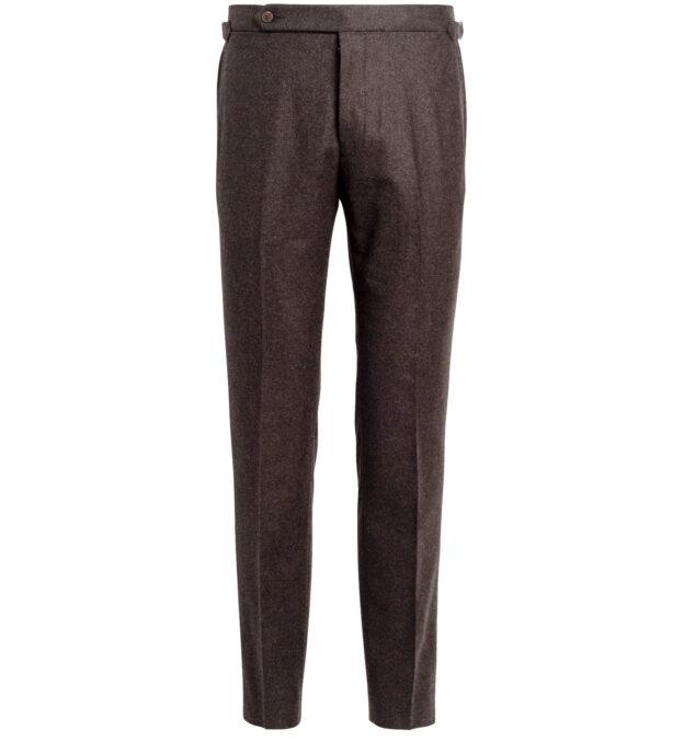 Allen Brown Wool Flannel Trouser