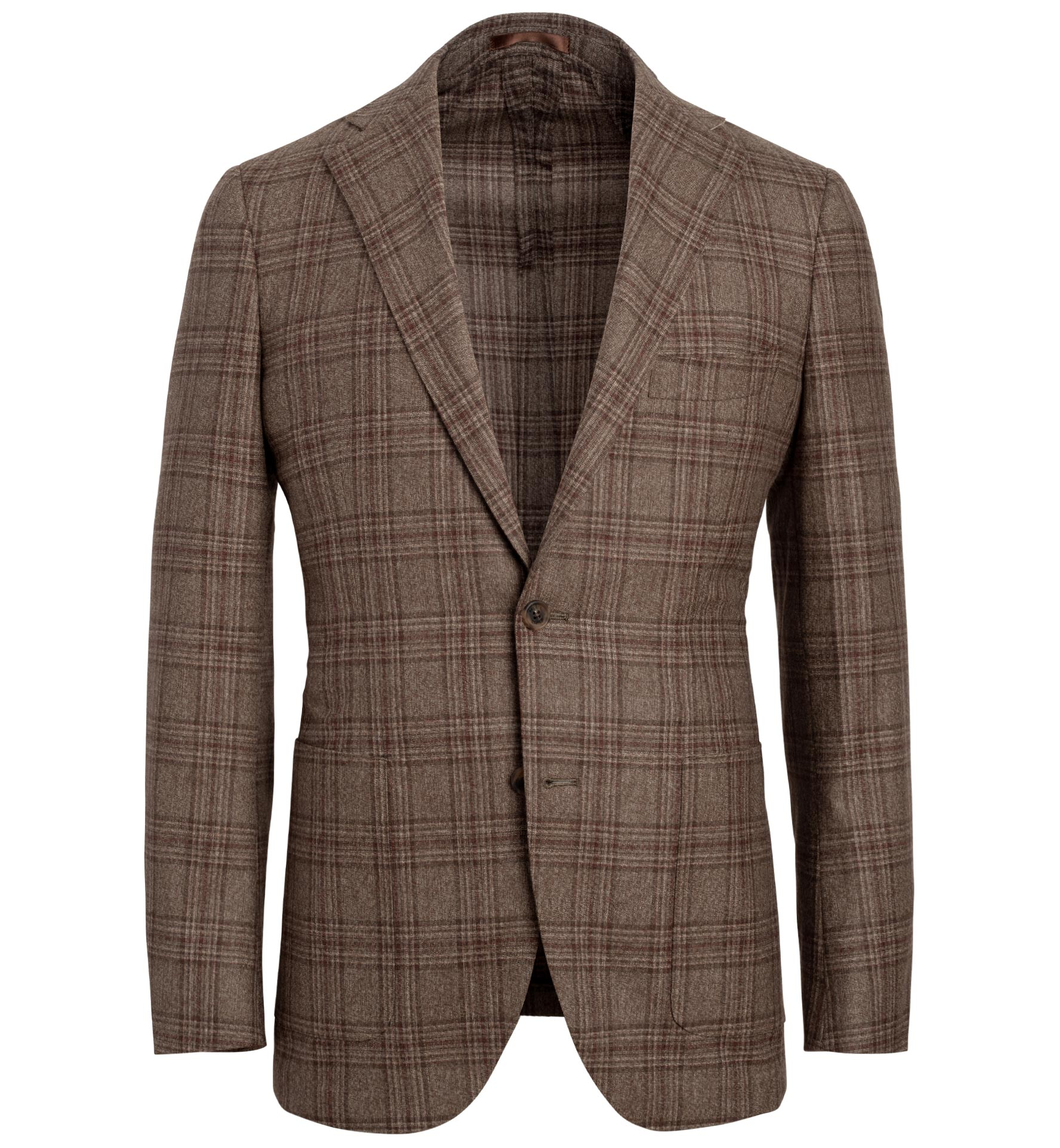 Zoom Image of Bedford Mocha Plaid Lightweight Wool Jacket