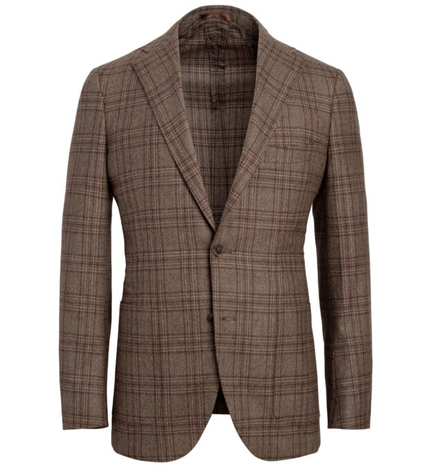 Bedford Mocha Plaid Lightweight Wool Jacket