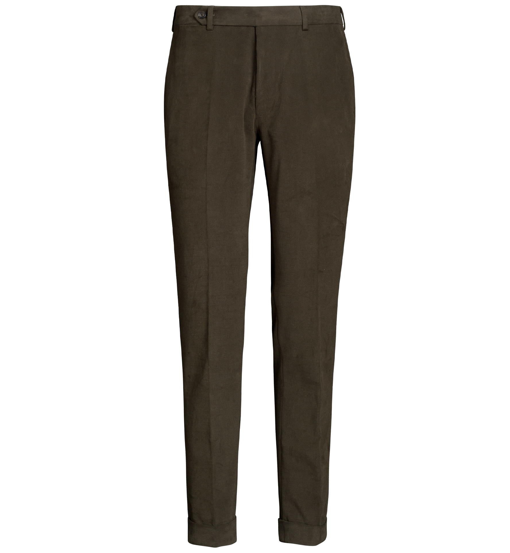 Zoom Image of Allen Olive Heavy Stretch Cotton Twill Trouser