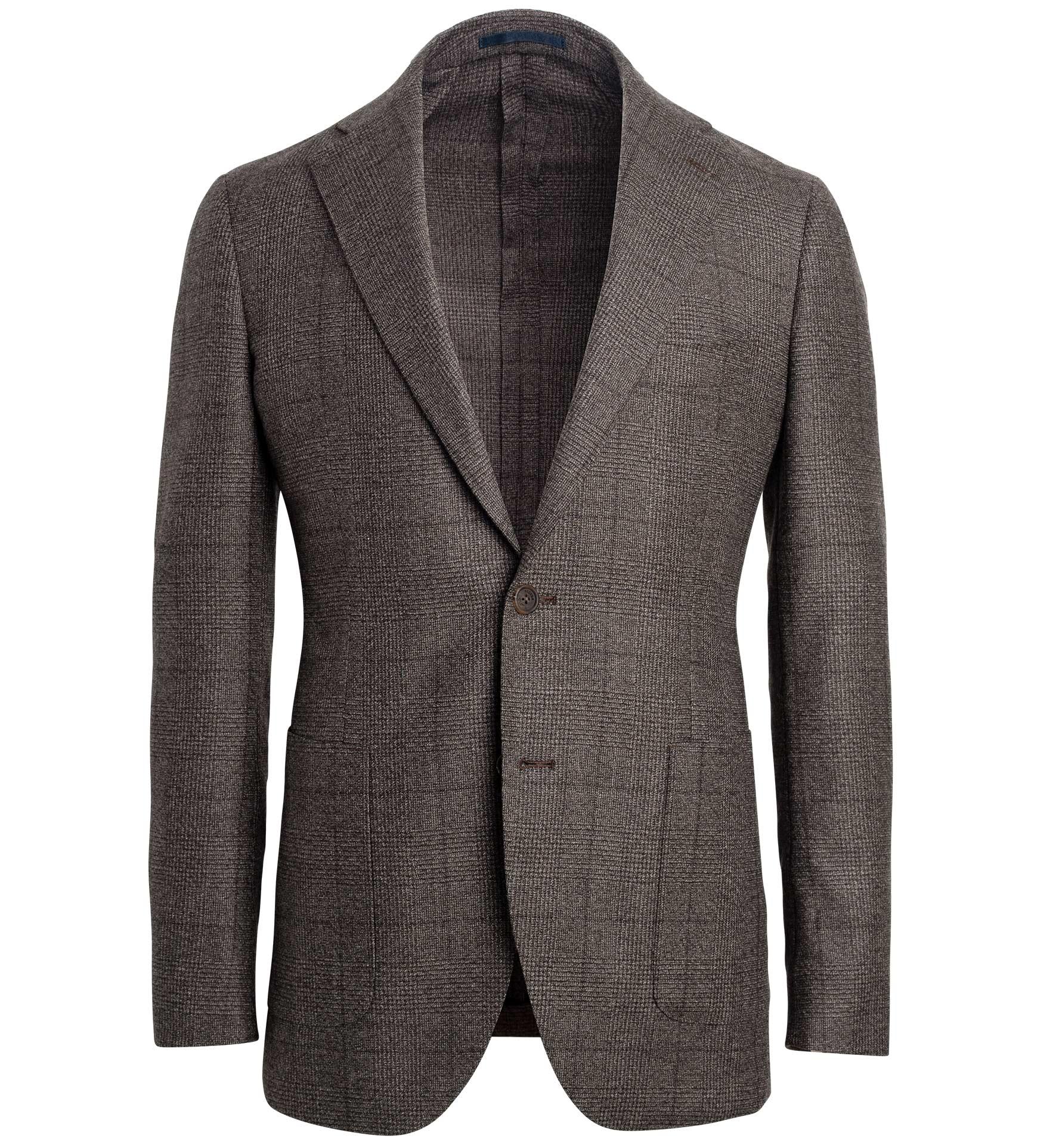 Zoom Image of Bedford Mocha Melange Prince of Wales Wool Jacket
