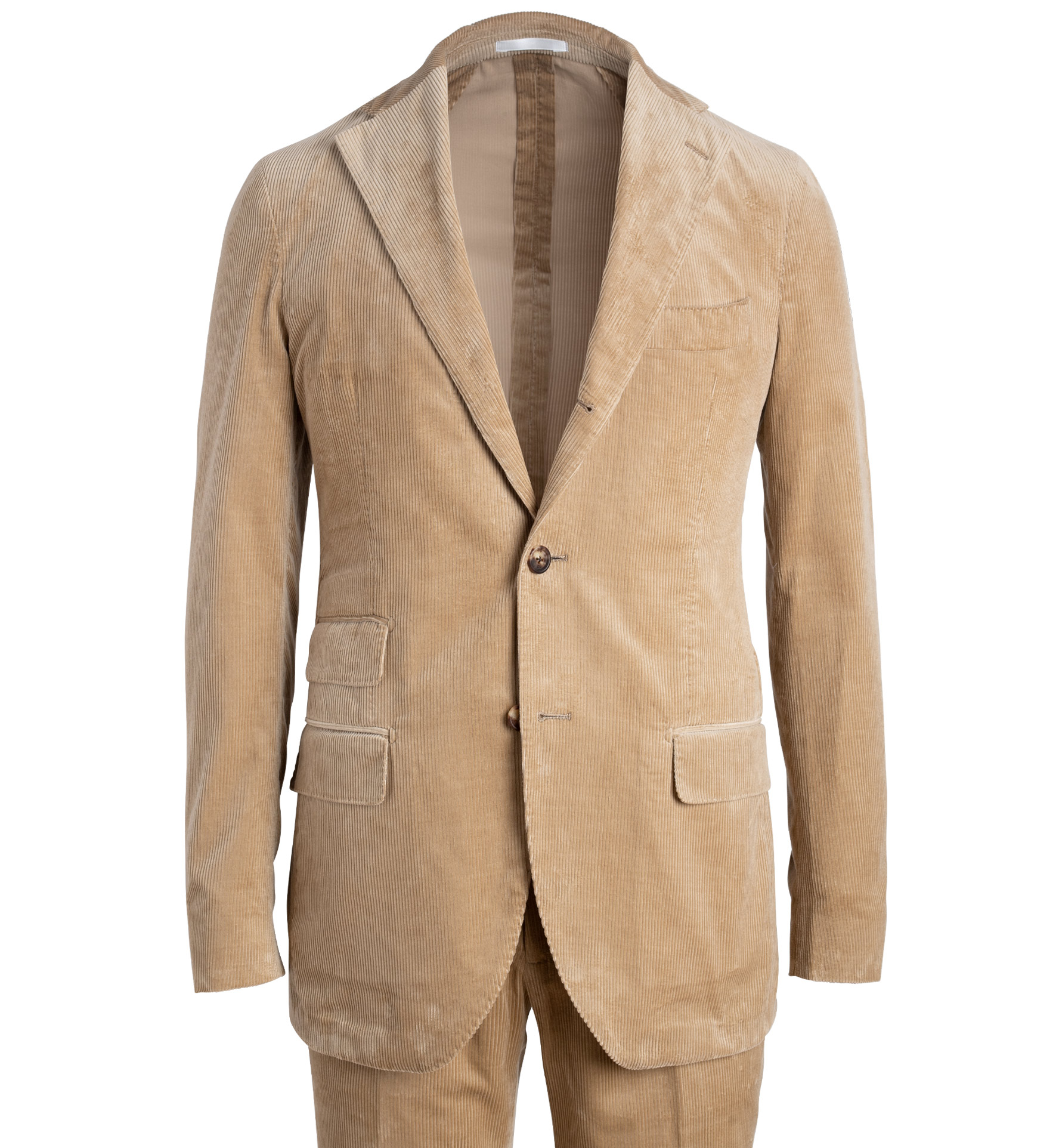 Zoom Image of Waverly Camel Lightweight Supima Corduroy Suit