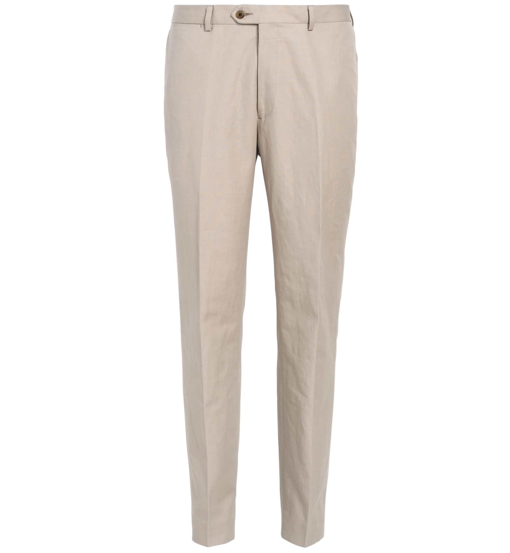Zoom Image of Allen Sand Cotton and Linen Canvas Trouser