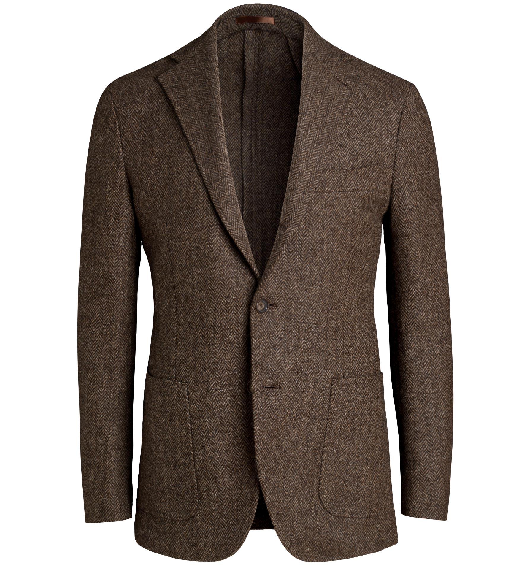 Zoom Image of Waverly Brown Herringbone Tweed Jacket