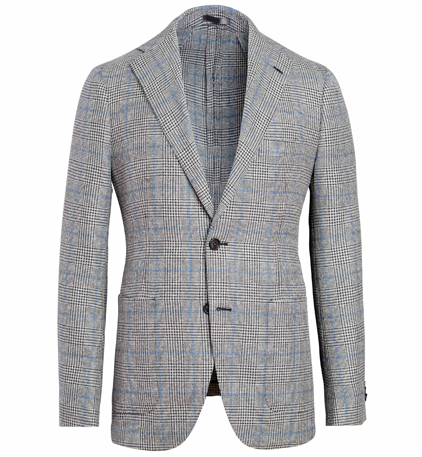 Zoom Image of Bedford Grey and Blue Prince of Wales Check Jacket