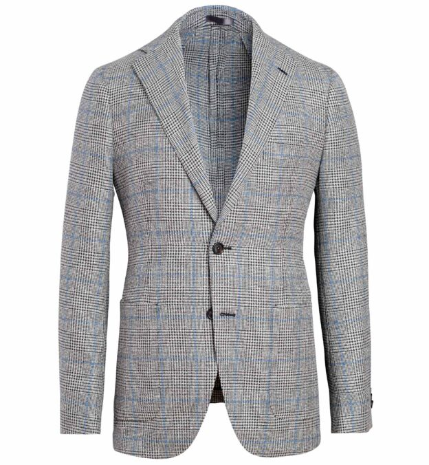 Bedford Grey and Blue Prince of Wales Check Jacket