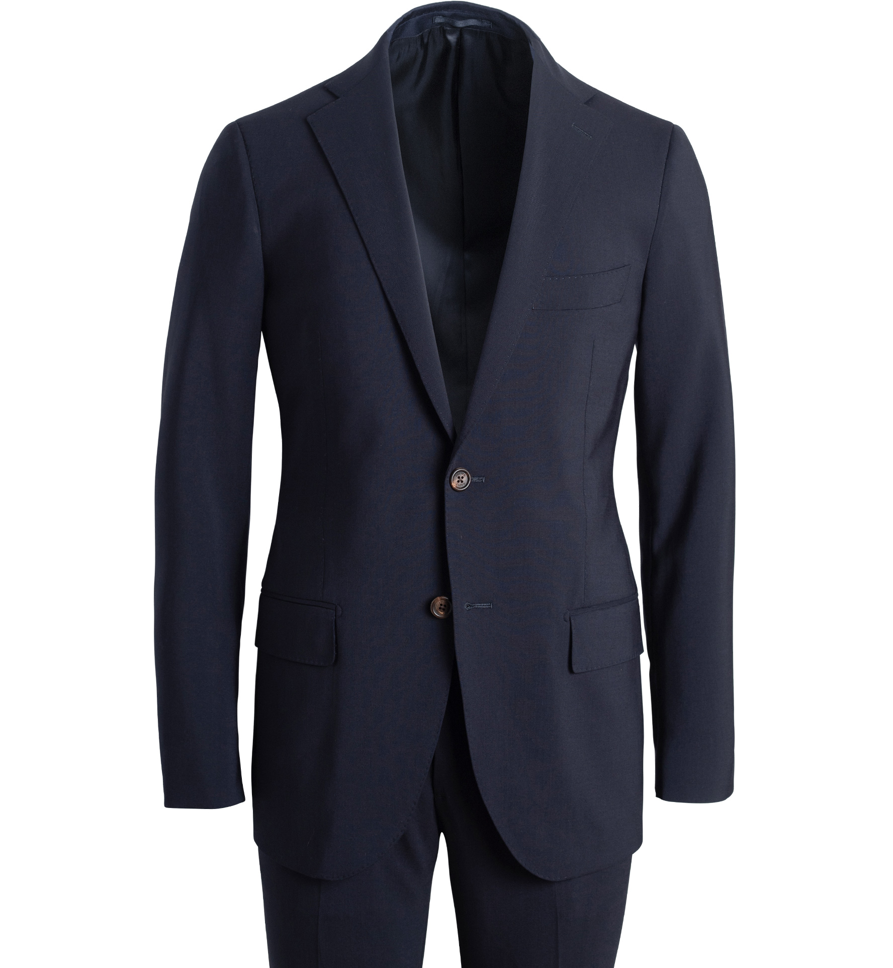 Zoom Image of Allen Navy Stretch Tropical Wool Suit