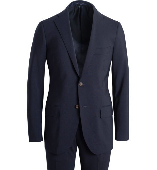 Allen Navy Stretch Tropical Wool Suit