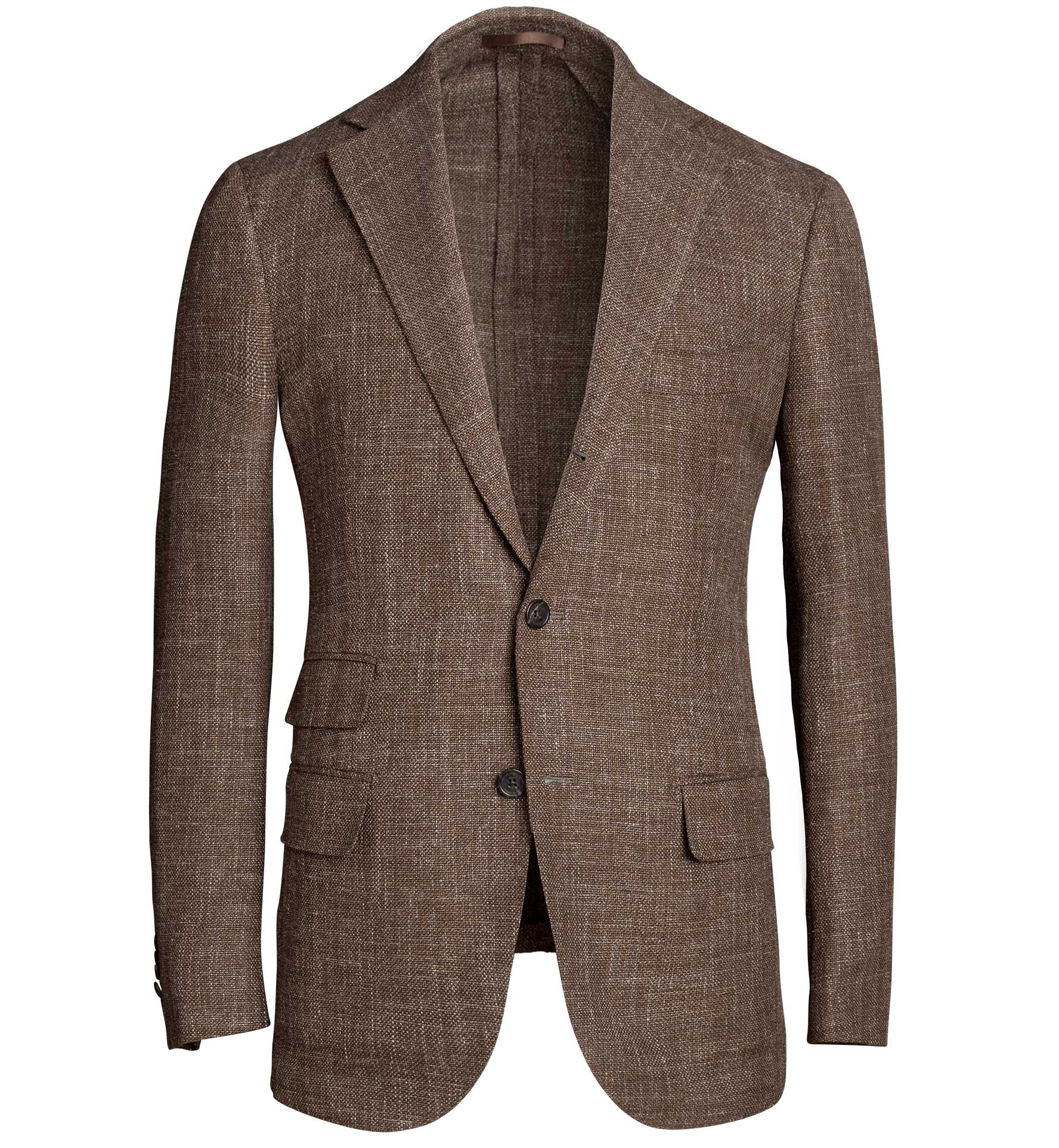 Zoom Image of Bedford Brown Wool Blend Hopsack Jacket