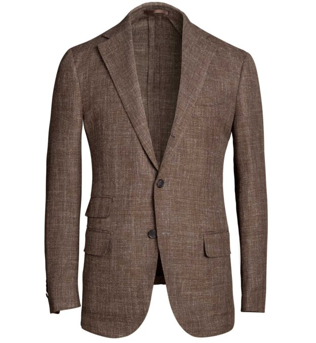 Bedford Brown Wool Blend Hopsack Jacket