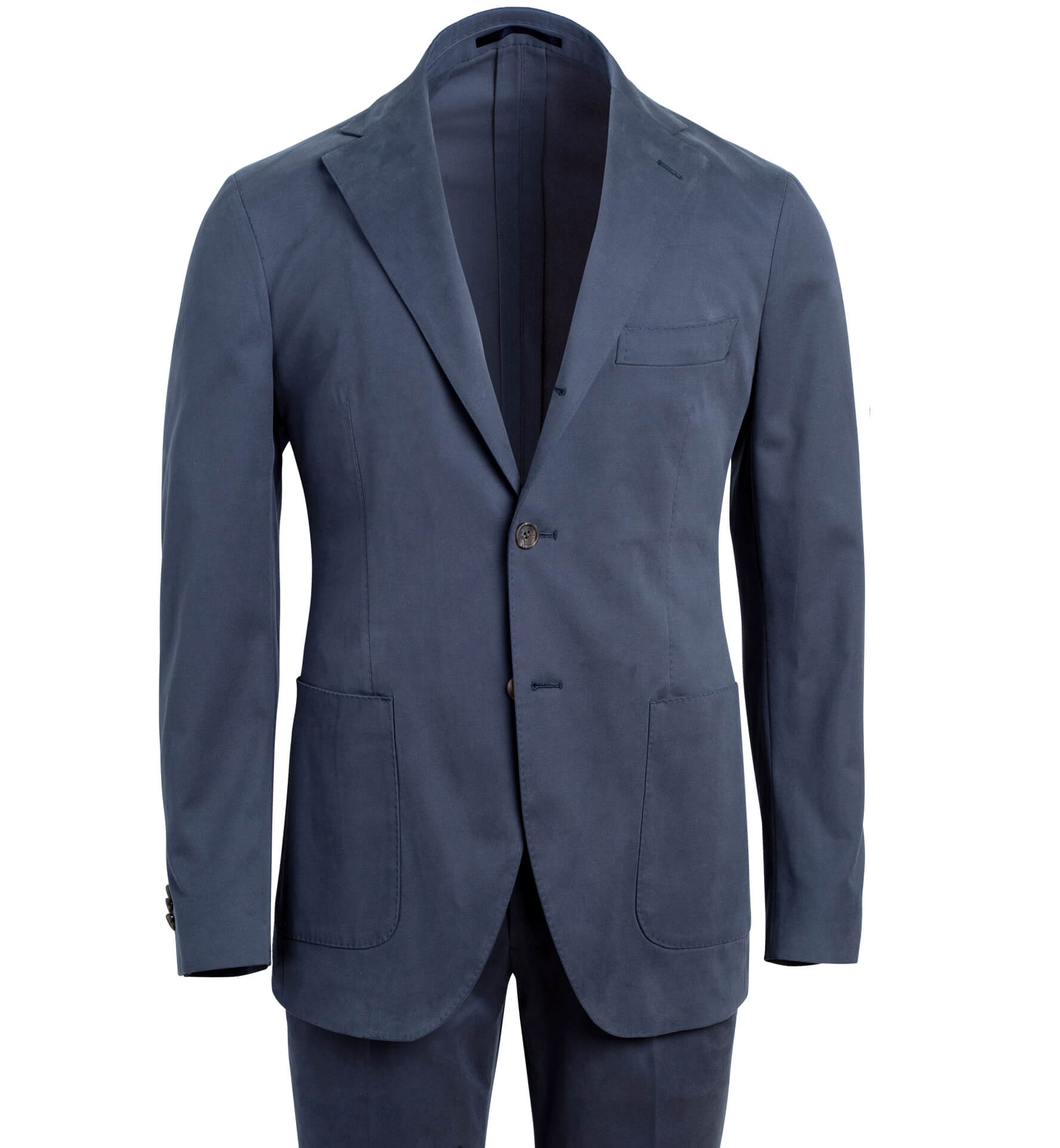 Zoom Image of Waverly Navy Stretch Cotton Suit