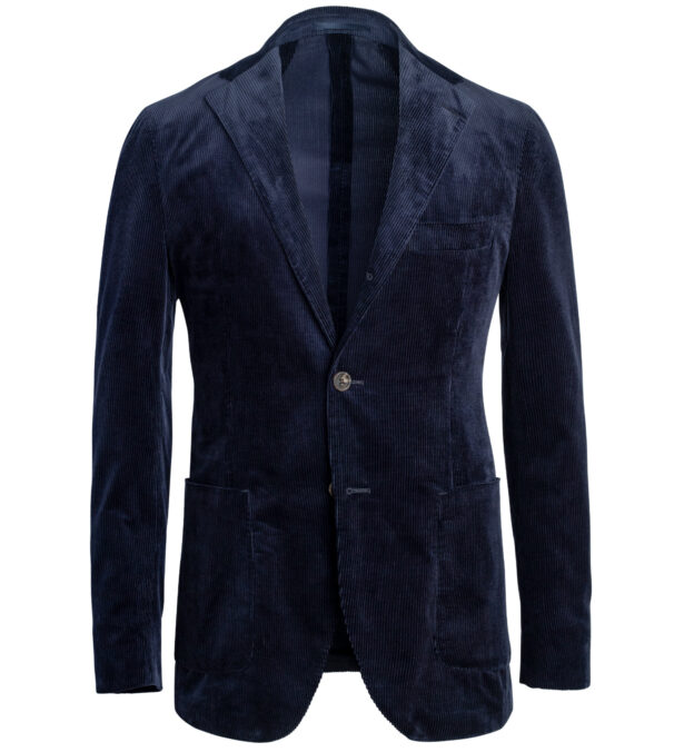 Waverly Navy Lightweight Supima Corduroy Jacket