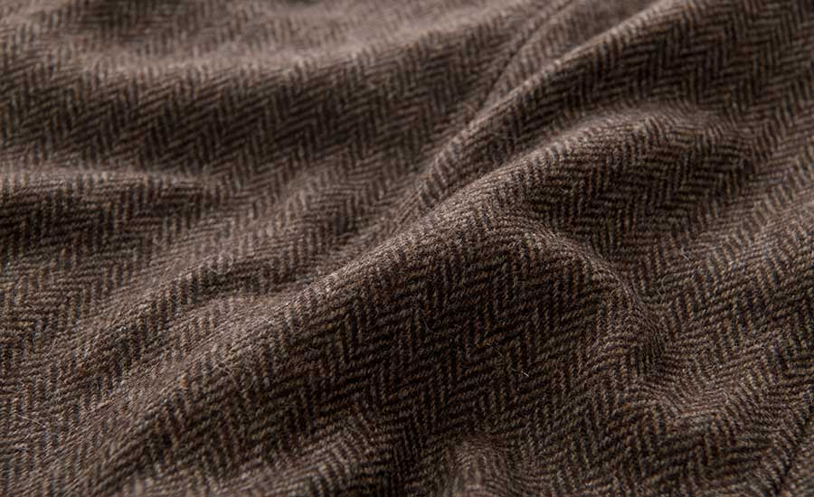 Detail of Marling & Evans Undyed Wool