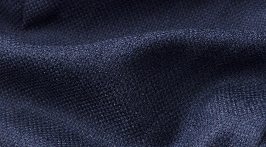 Detail of E. Thomas Wool & Cashmere Fabric
