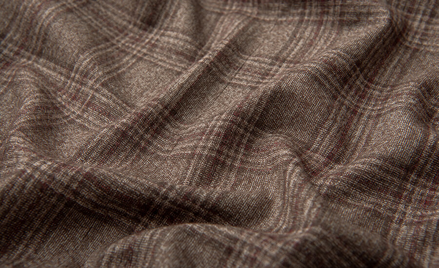 Detail of Guabello Merino Wool