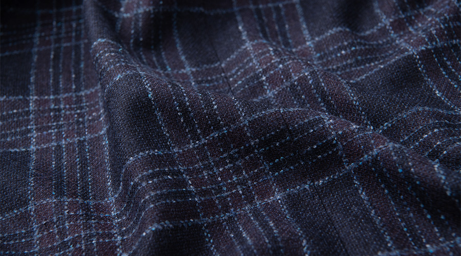 Detail of Zignone Wool and Silk Flannel