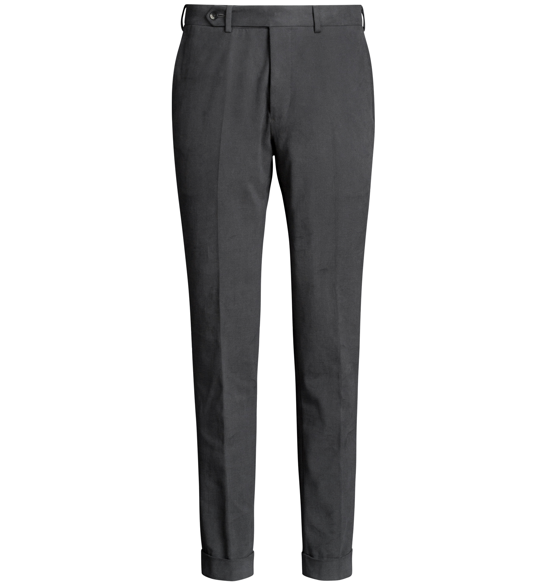 Zoom Image of Allen Grey Heavy Stretch Cotton Twill Trouser