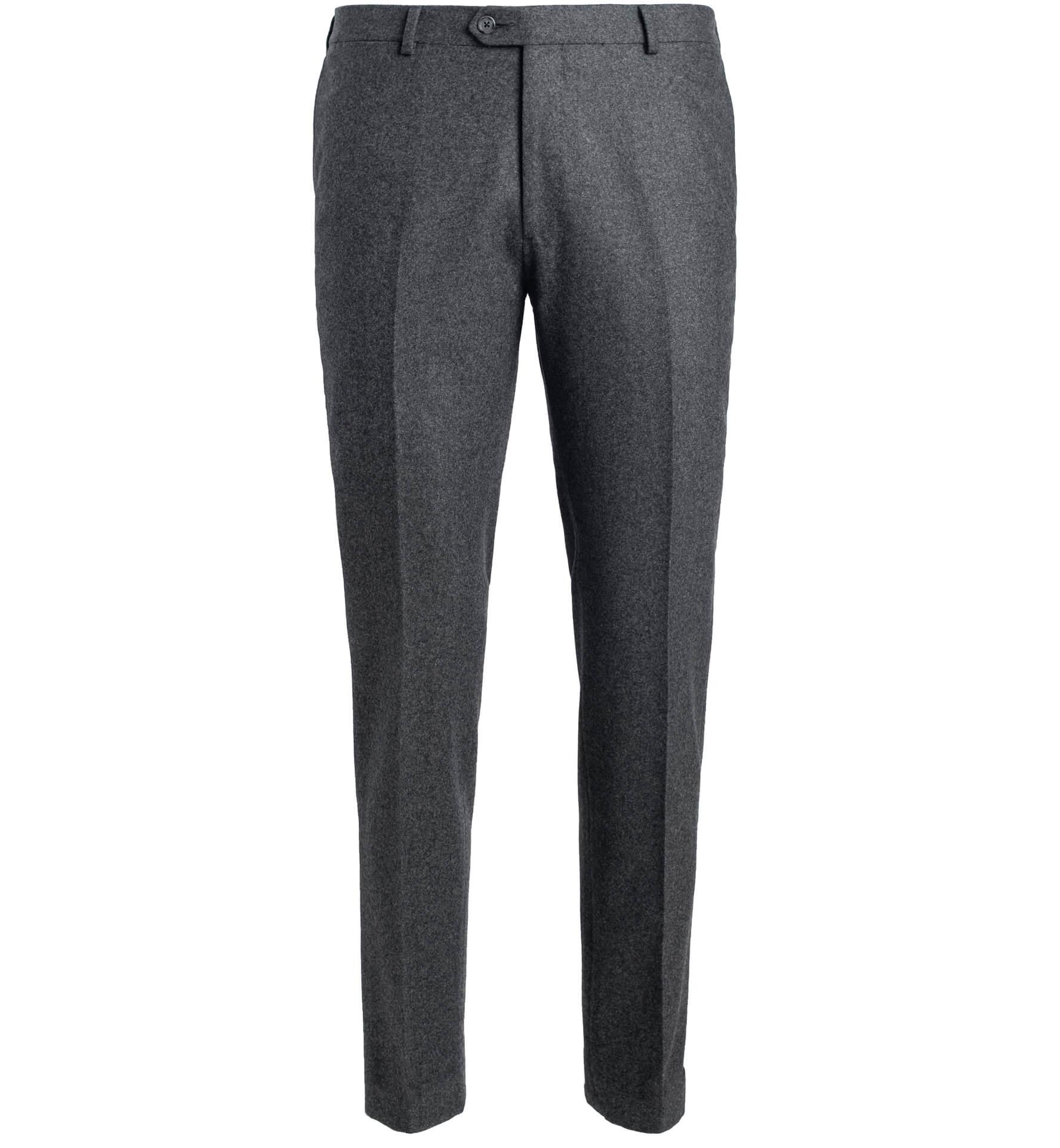 Zoom Image of Allen Grey Wool Flannel Trouser