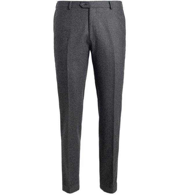 Allen Grey Wool Flannel Trouser