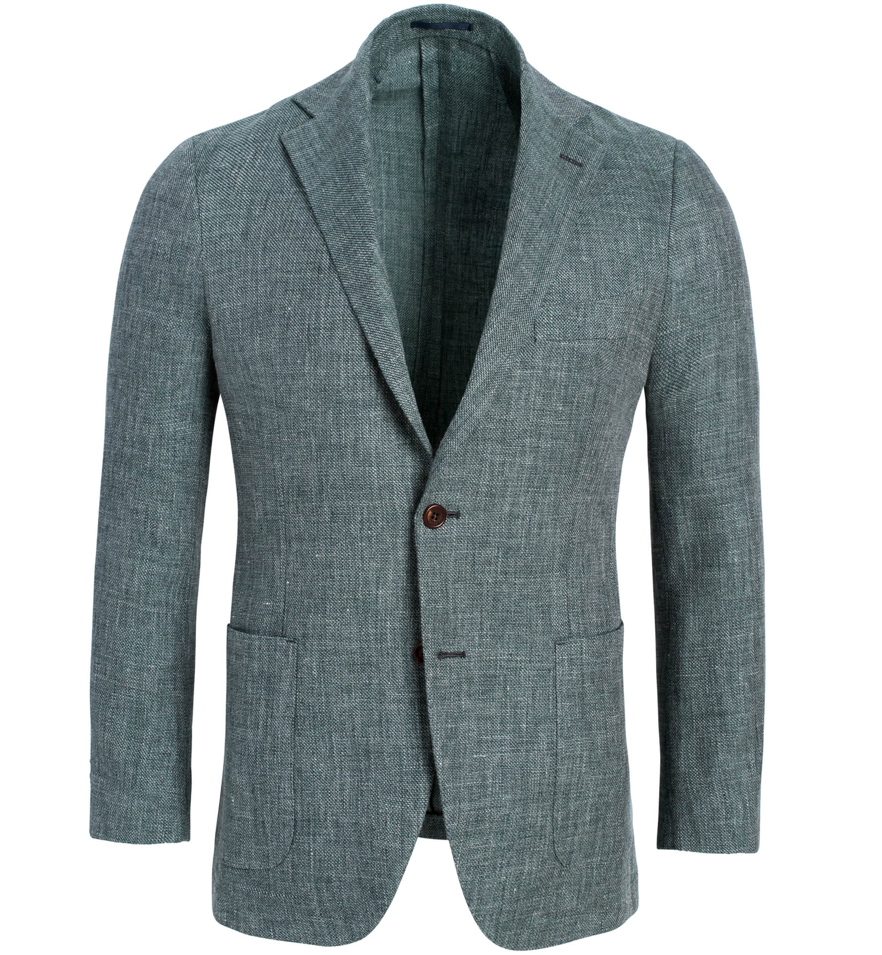 Zoom Image of Bedford Faded Sage Linen and Wool Hopsack Jacket