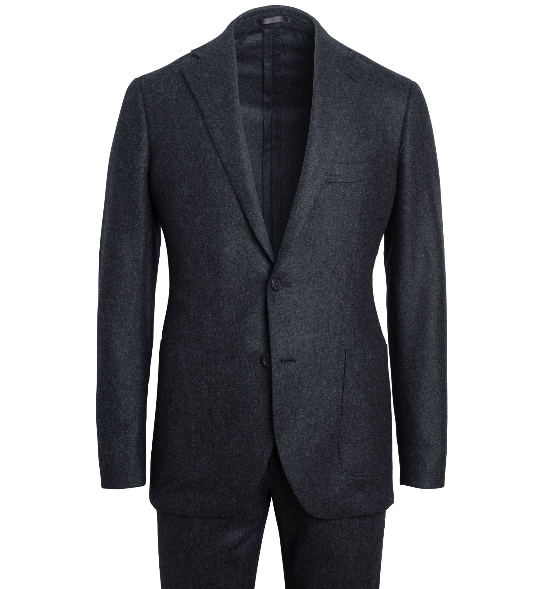 Zoom Image of Bedford Charcoal Wool Flannel Suit