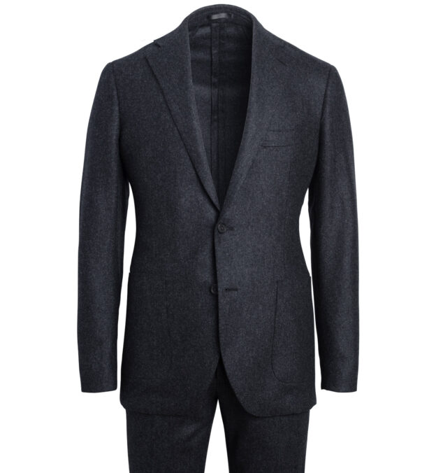 Bedford Charcoal Wool Flannel Suit