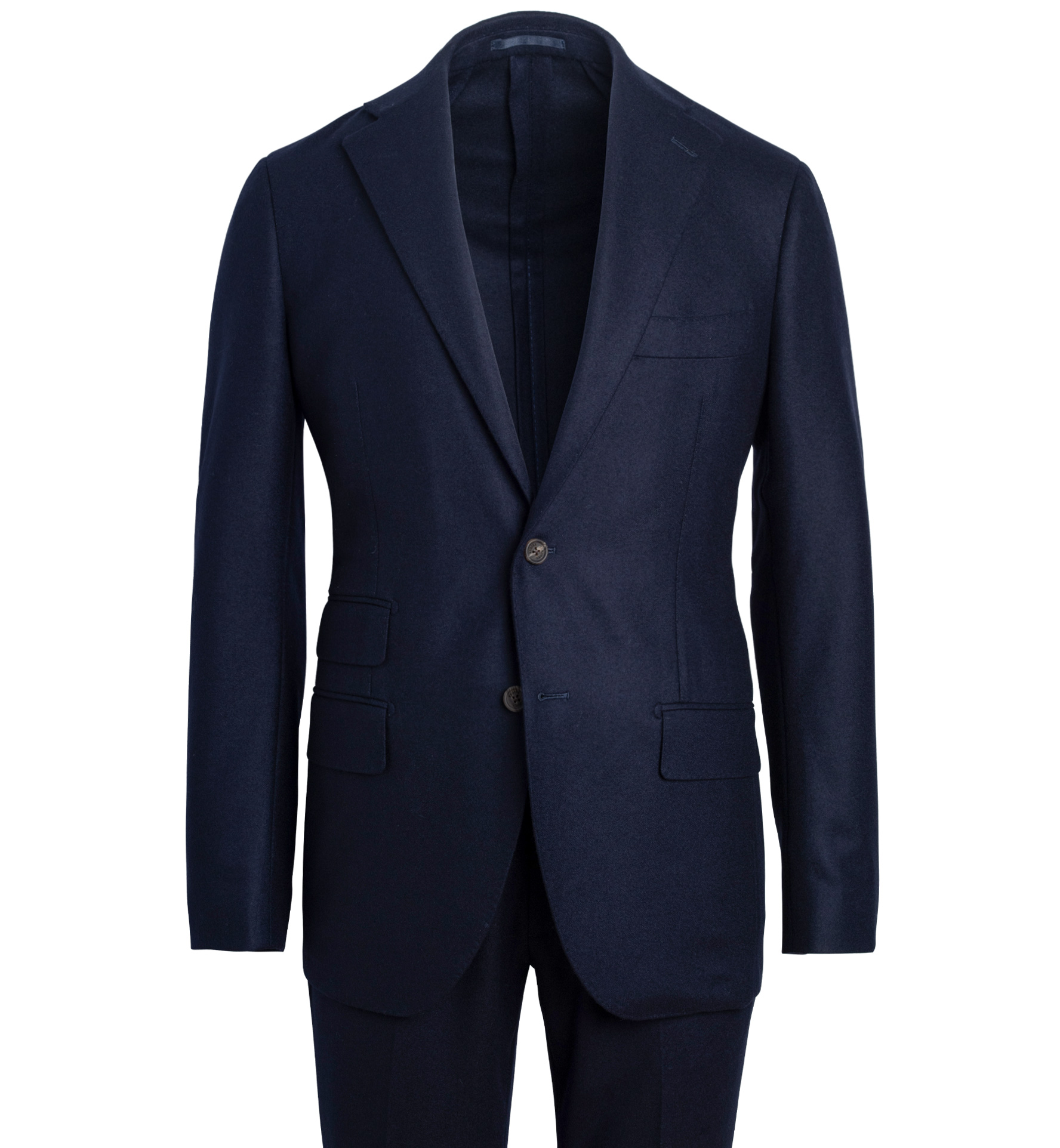 Zoom Image of Bedford Navy Wool Flannel Suit