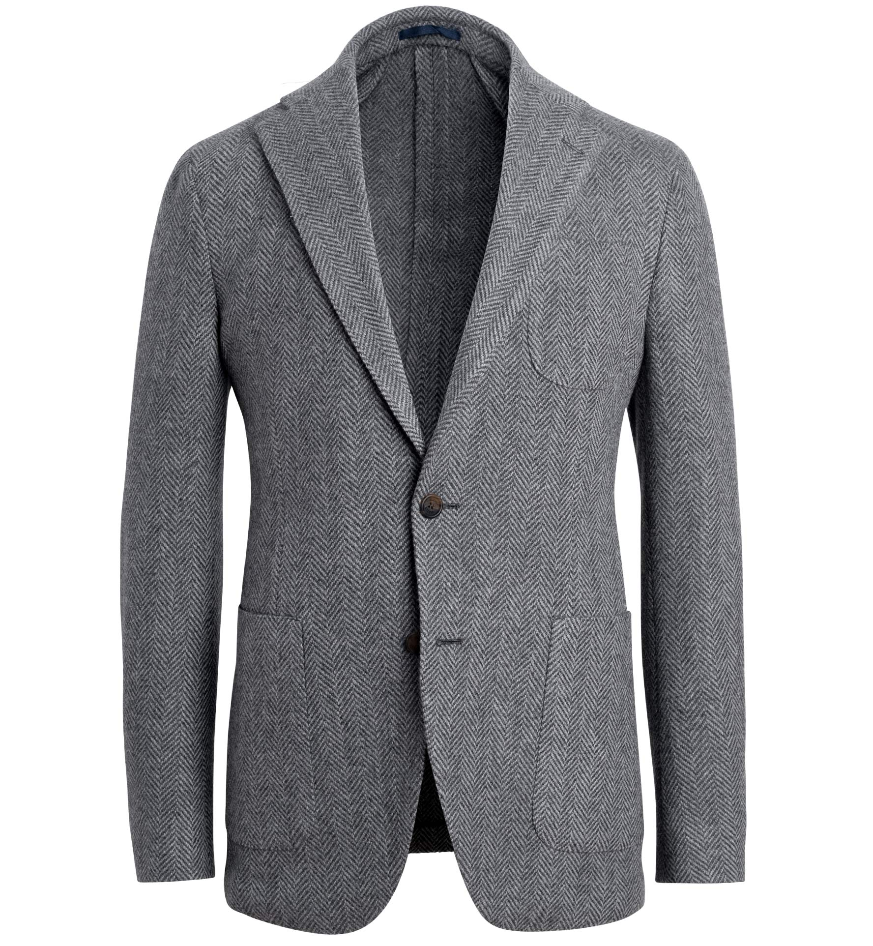 Zoom Image of Waverly Grey Lambswool Herringbone Jacket