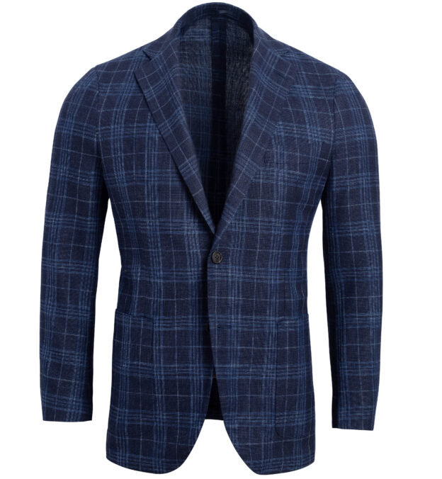 Bedford Navy Plaid Summer Blend Jacket