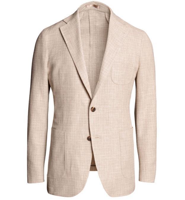 Waverly Beige Wool Blend Gauze Weave Jacket