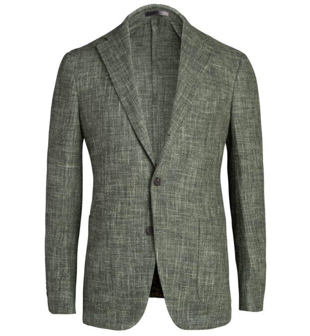 Waverly Sage Slub Wool Blend Jacket