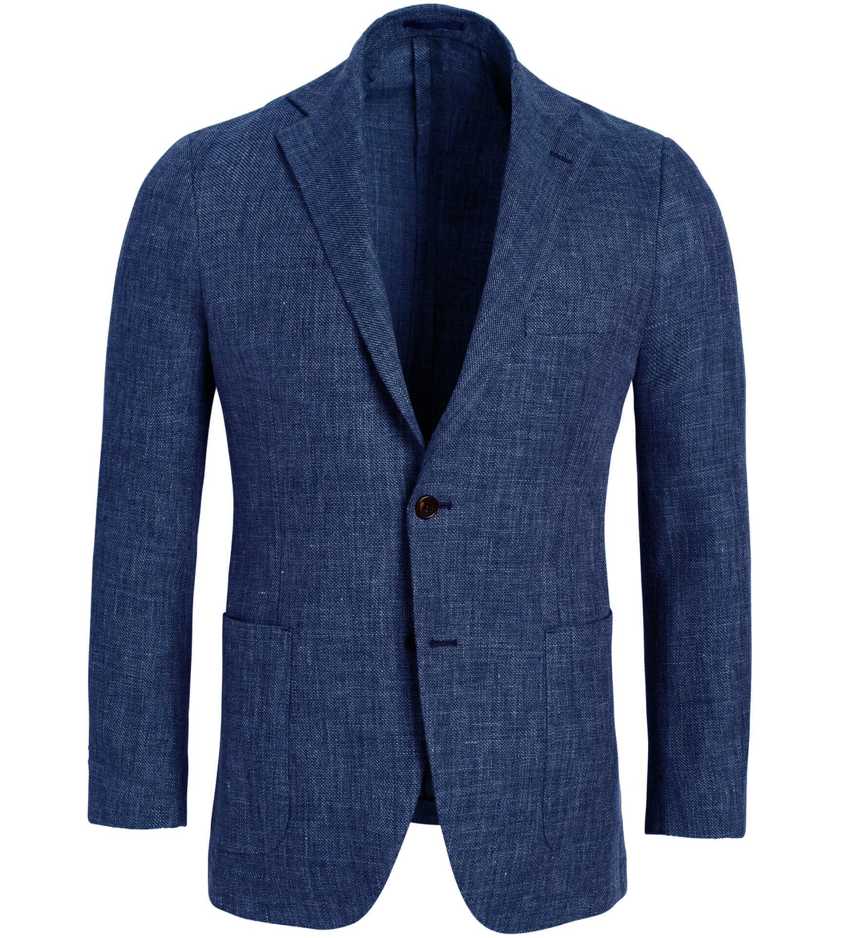 Zoom Image of Bedford Ocean Blue Linen and Wool Hopsack Jacket