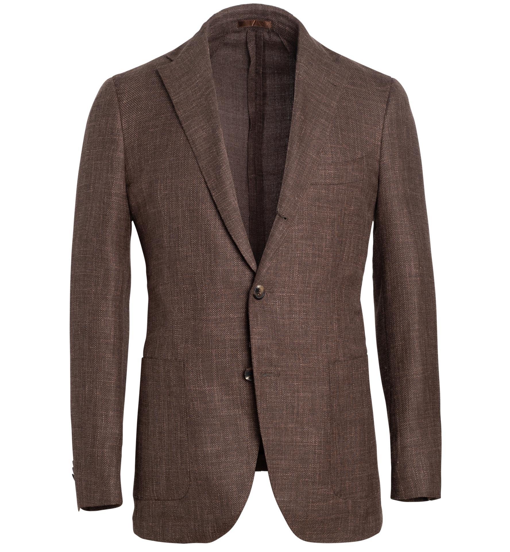 Zoom Image of Bedford Tobacco Wool Blend Hopsack Jacket
