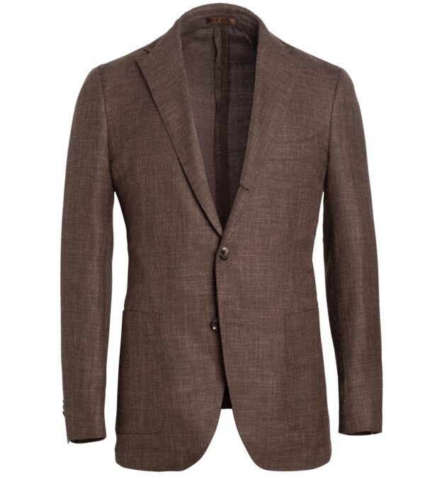Bedford Tobacco Wool Blend Hopsack Jacket