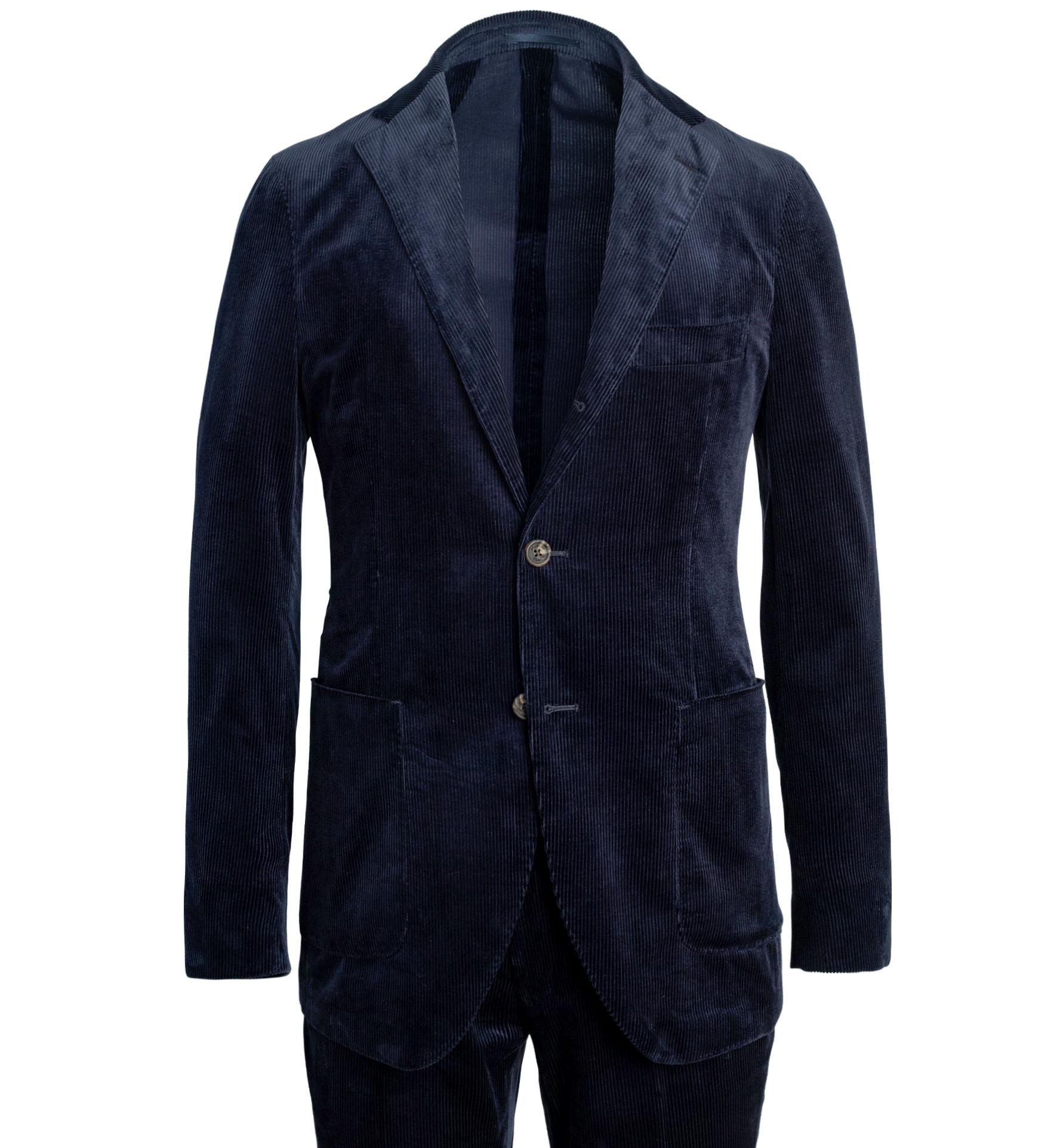 Zoom Image of Waverly Navy Lightweight Supima Corduroy Suit