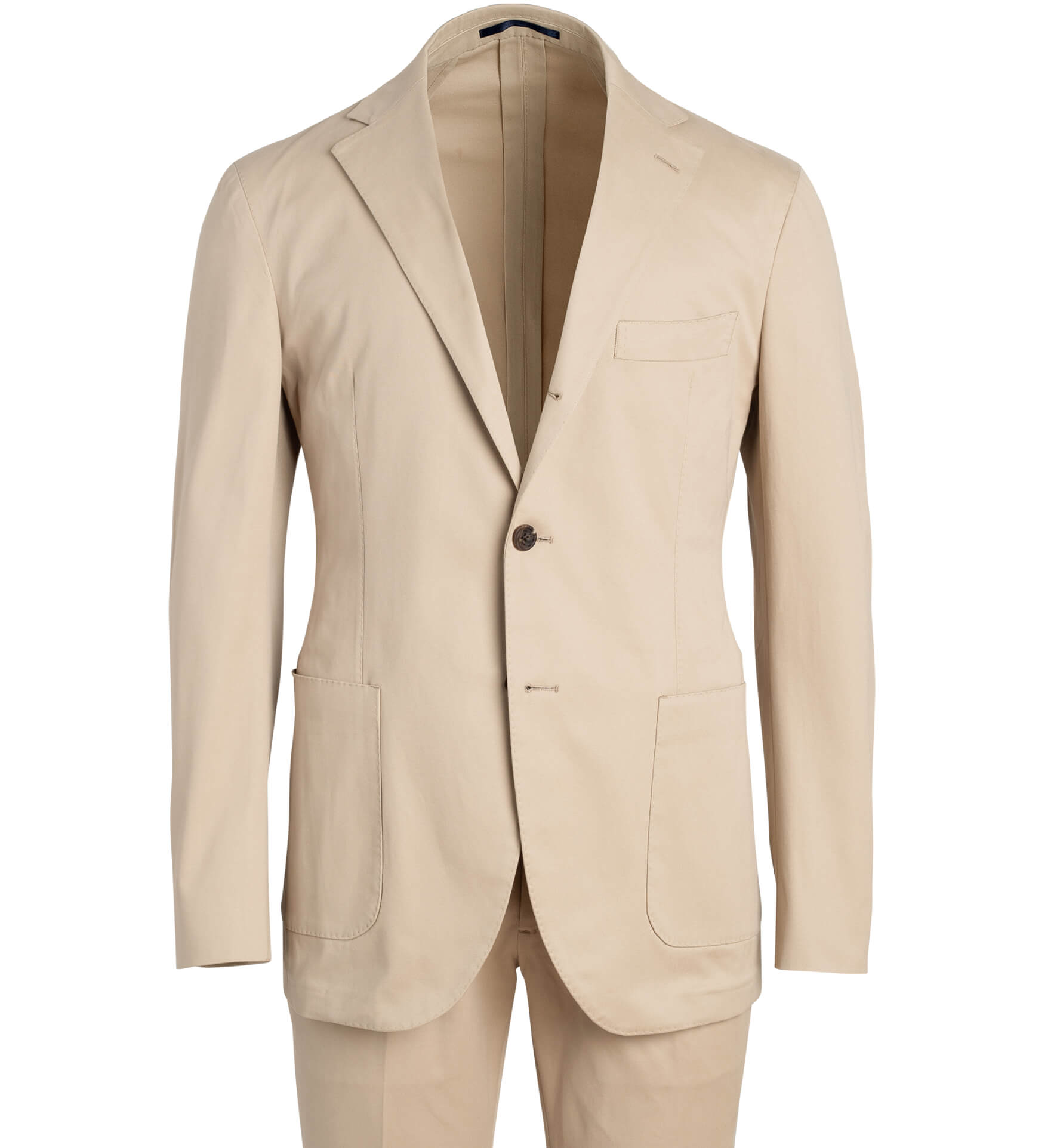 Zoom Image of Waverly Beige Stretch Cotton Suit