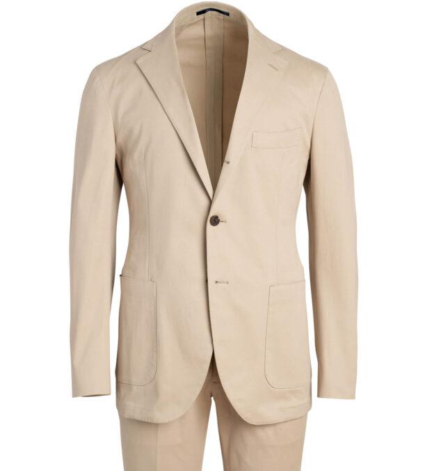 Waverly Beige Stretch Cotton Suit