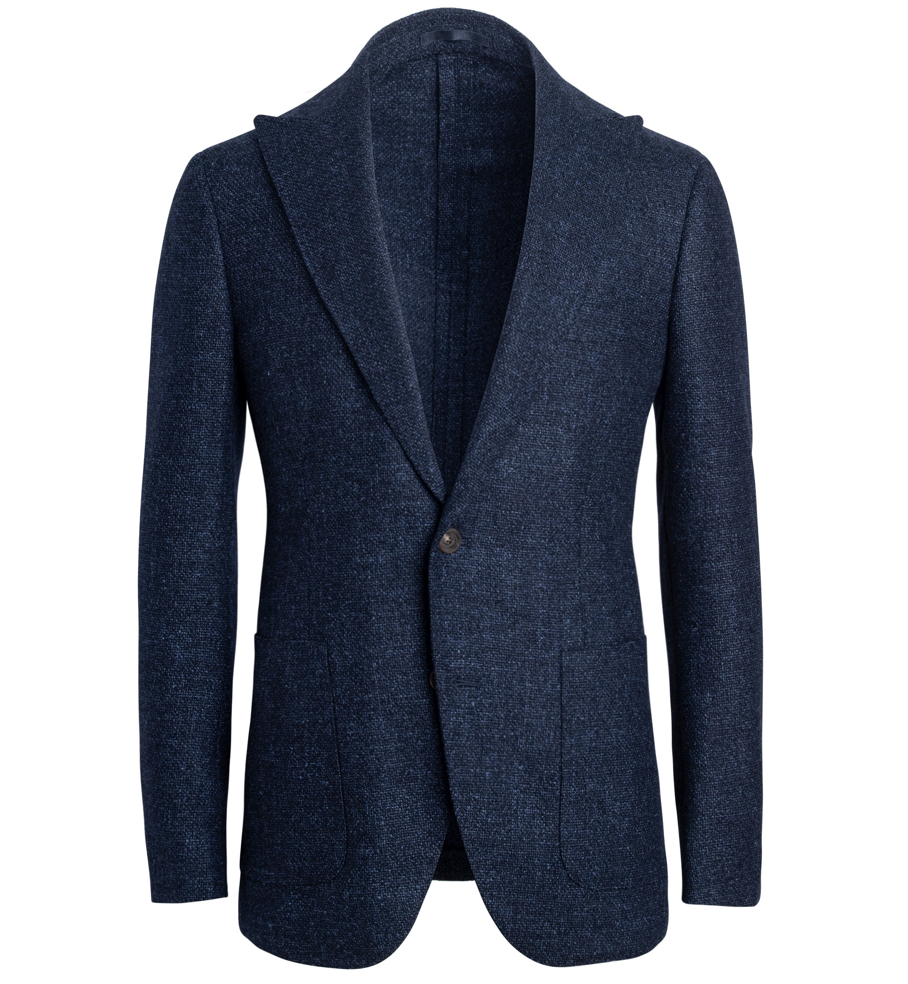 Zoom Image of Bedford Navy Textured Wool Blend Jacket