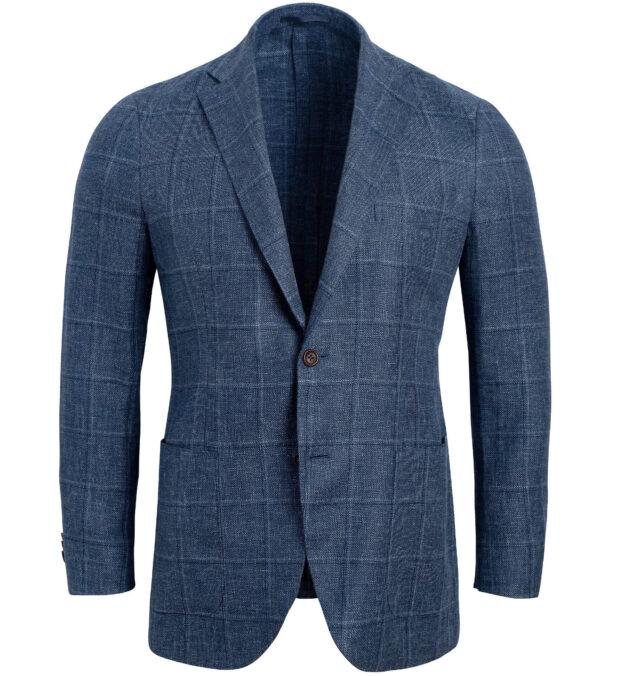 Bedford Slate Windowpane Linen and Wool Jacket