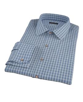 Canvas Blue Oxford Plaid Men's Dress Shirt