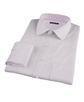 Canclini Pink Large Glen Plaid Fitted Shirt