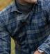 Canclini Grey and Navy Plaid Beacon Flannel Shirt Thumbnail 4