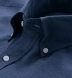 Navy Cotton Melange Oxford Popover Shirt Thumbnail 2
