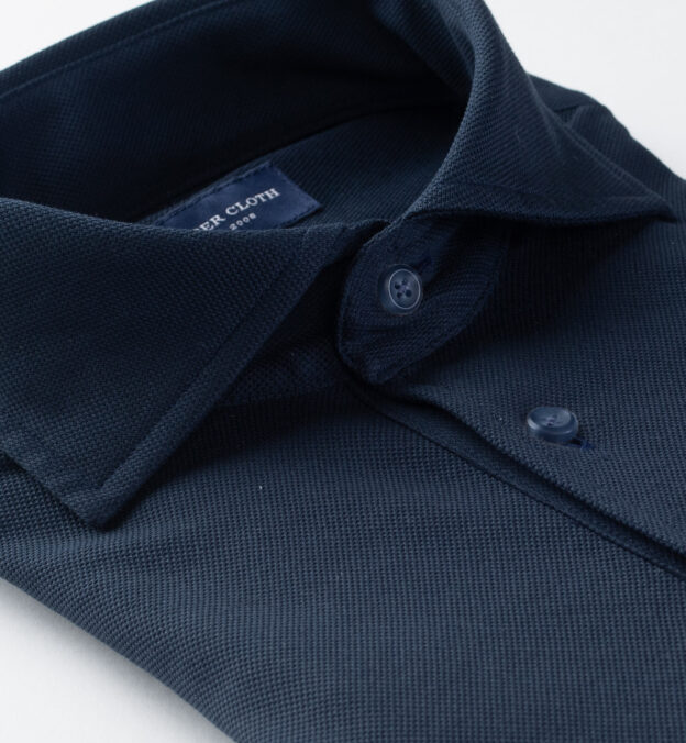 Canclini Navy Knit Pique