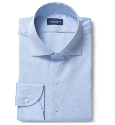 Mayfair Wrinkle-Resistant Light Blue Pinpoint