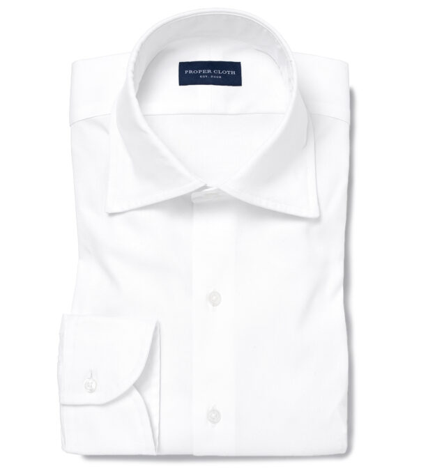 American Pima White Heavy Oxford Custom Dress Shirt